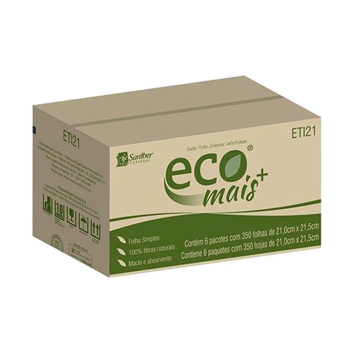 ETI21 - Eco® Toalha Folha Simples Interfolhada