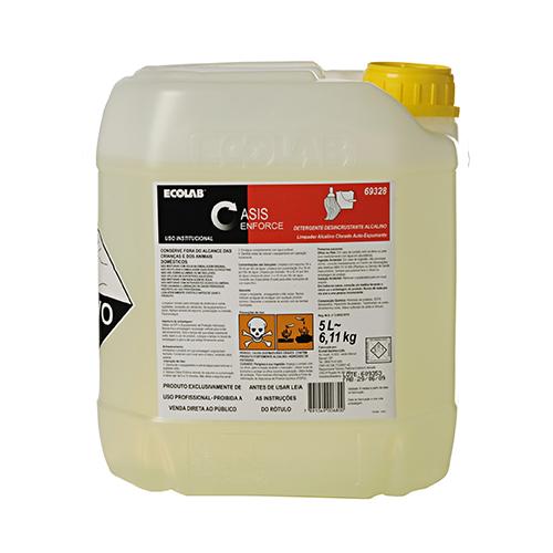 Oasis Enforce - 5 litros - Detergente Desincrustante Alcalino Clorado