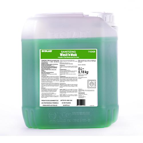 Sanitizing Wash and Walk - Limpador e desinfetante para uso geral sem exágue