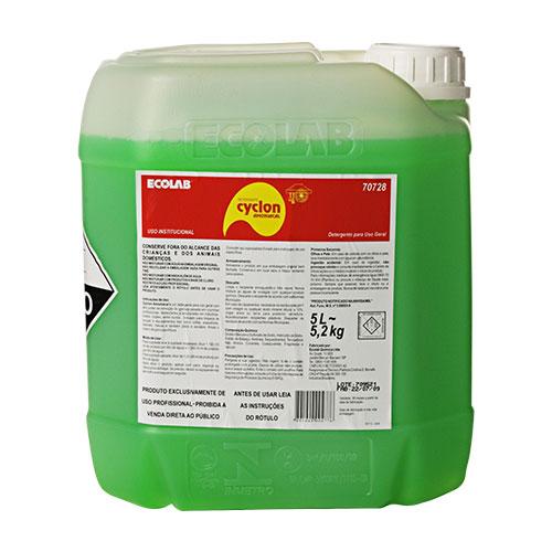 CyclonAmoniacal - 5 litros - Multiuso - Detergente para uso geral com alto poder de remoção de gordura