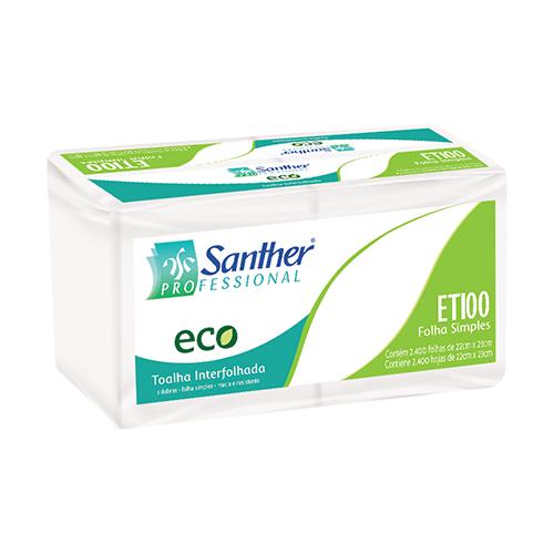 ETI00 - ECO® Toalha Interfolhada Folha Simples