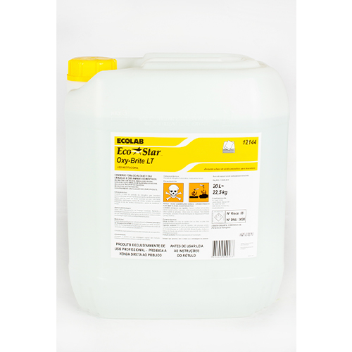 Eco Star Oxy-Brite LT - 20 litros - Alvejante e Desinfetante (peracético) para tecidos e roupas hospitalares
