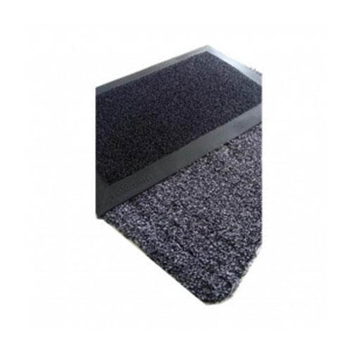 Kit Sanitizante Preto 38cm x 58cm + Tapete para Secar os Pés Mágico 40cm x 60cm