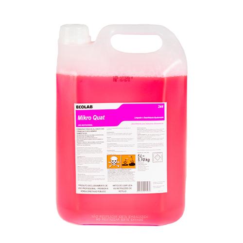 Mikro Quat - Limpador e Desinfetante (quaternário de amonia) para cozinhas industriais e indústrias alimentícias