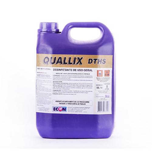Quallix DTHS - Limpador e Desinfetante (hipoclorito de sódio) para cozinhas industriais e indústrias alimentícias
