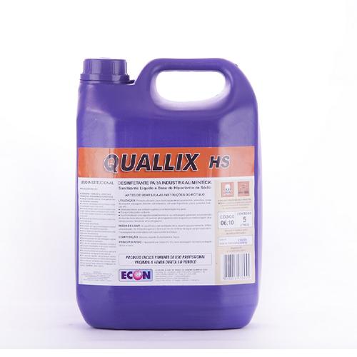 Quallix HS - Desinfetante (hipoclorito de sódio) para cozinhas industriais e indústrias alimentícias