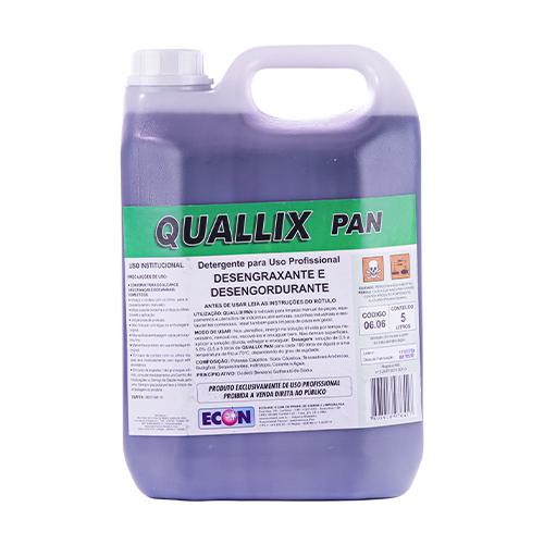 Quallix Pan - Detergente para limpeza de peças e equipamentos em indústrias alimentícias e cozinhas industriais