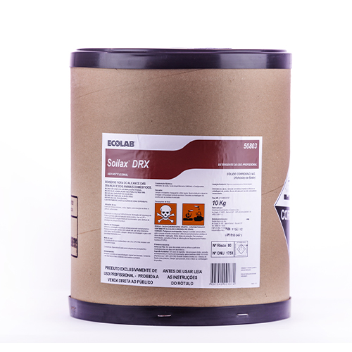 Soilax Drx 10 kg - Detergente alcalino em pó utilizado para limpeza de pisos, coifas, fogões, etc