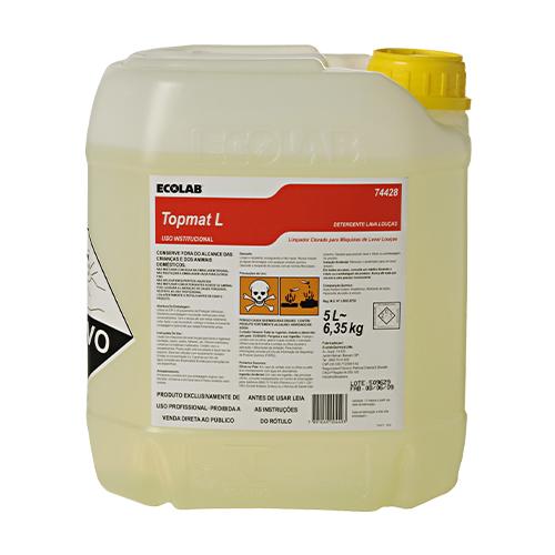 Topmat L - Detergente alcalino clorado para lavagem automática em máquinas de lavar louças